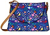 Snoogg Bird Floral Patterns Womens Carry Around Sling Bags