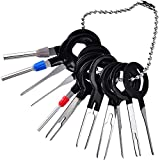 TecUnite 11 Pieces Automotive Car Plug Circuit Board Pin Extractor Kit Supplies Terminals Removal Key Connector Puller Release Pin Tools