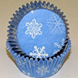 Oasis Supply Baking Cups, Standard, 50-Count, Snowflake