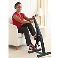 Cheap Dual Bike Plus - new innovative design home exercise and fitness cycle that simultaneously exercises legs and arms providing a gentle to moderate workout from the comfort of a favourite chair. Two sets of variable resistance pedals work independently to tone condition and build muscles in the upper and lower body as well as help loosen stiff joints and burn fat. Includes exerciser bands and an LCD computer to monitor your progress. Well made robust construction. Assorted colours. -image
