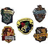 """Harry Potter Complete Set of FIVE 1 3/16"""" Tall British Logo Pins"""