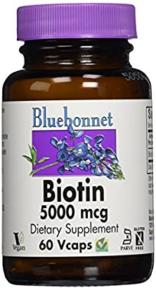 buy Bluebonnet Biotin 5000 Mcg Vegetable Capsules, 60 Count