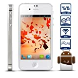 51jrnSzU0hL. SL160  Unlocked Quadband Dual sim with Android 4.0 3G Smart Phone 3.5 Inch Capacitive Touch Screen   AT&T, T mobile, H20, Simple mobile and other GSM networks (White)