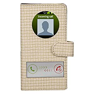 Dsas Artificial Leather Flip cover with screen Display Cut Outs designed for Motorola Moto G (Gen 3)