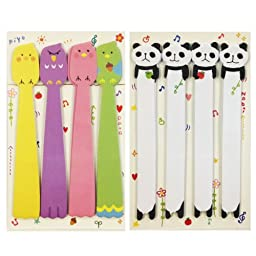 Wrapables Bookmark Flag Index Tab Sticky Notes, Panda and Tweety Birds, Set of 2