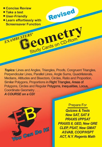 Geometry Exambusters CD-ROM Study Cards: Exam Prep Software on CD-ROM!