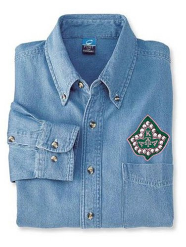 Alpha Kappa Alpha Denim Shirt - Ivy