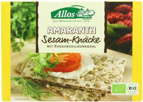 Allos Organic Crispbread Sesame 250 g (Pack of 6)