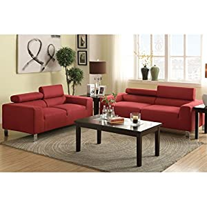 boss furniture f7260 carmine polyfiber