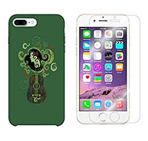Snoogg Lady On Guitar Combo Designer Protective Back & Shatter Proof Tempered Glass For APPLE IPHONE 7