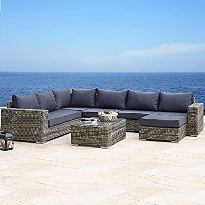 Polyrattan Lounge / Sitzgarnitur Hawaii von Juskys Gruppe GmbH auf Gartenmöbel von Du und Dein Garten