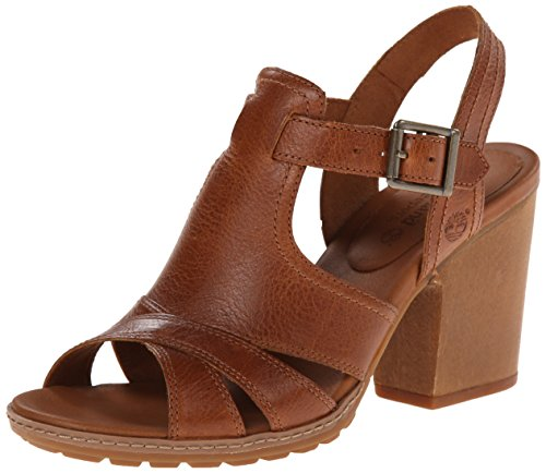 Timberland Women's EK Strafford Backstrap Gladiator Sandal, Buckthorn Brown, 10 M US (Customized Timberland Boots compare prices)