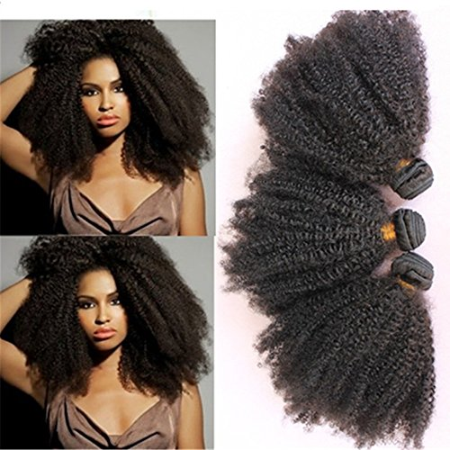 E-forest-hair-Weave-For-Women-7A-Virgin-100-Brazilian-Remy-Human-Hair-WeftWeave-Extension-Afro-Kinky-Curly-Natural-Black-Color-3-Bundles-300g-SD-02-Size-10-10-10