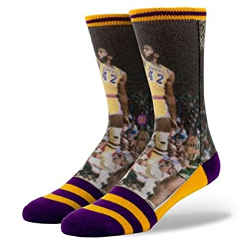 Stance Mens James Worthy L.A. Lakers Crew Socks by Stance