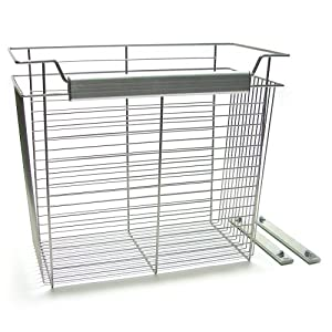 John Louis Home JLH-734 Wire Basket, 24-Inch Wide by 12-Inch Depth by 20-Inch Height
