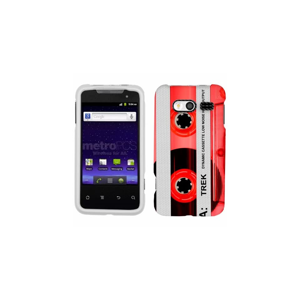 Huawei Activa Retro Clear Cassette Tape Red Phone Case Cover Cell Phones & Accessories