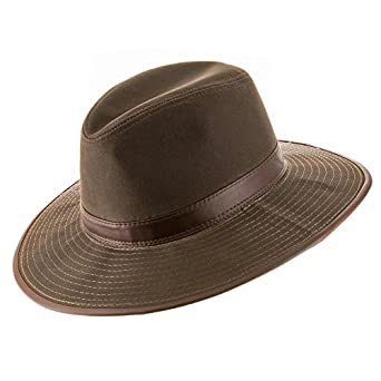 Seattle Oil Cloth Safari Outback Water Repellant Outdoors Hat with