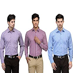 Vicbono Men's Formal Shirt Pack of 3 - 121314-M