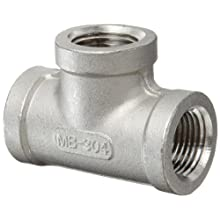 Stainless Steel 304 Cast Pipe Fitting, Tee, Class 150, NPT Female