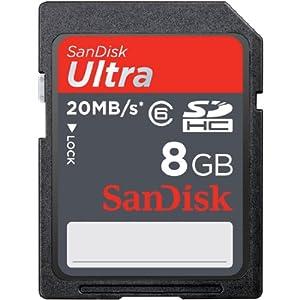 SanDisk ULTRA SDHC 8GB Class 4   Flash Memory Card SDSDRH-008G-A11