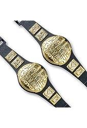 Set of 2 Tag Team Championship Belts for Wrestling Action Figures