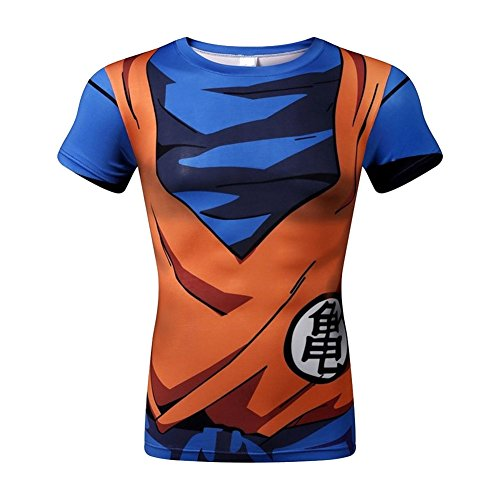 Bolany Dragon Ball Z Kuririn 3D Shirts Cosplay Casual Fitness Tees T-Shirt