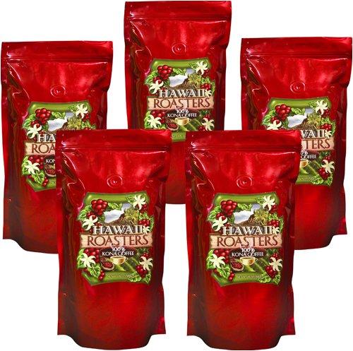Hawaii Roasters Award Winning 100% Kona Coffee, Whole Bean, Medium