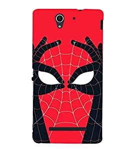 Spider Design 3D Hard Polycarbonate Designer Back Case Cover for Sony Xperia C3 Dual D2502 :: Sony Xperia C3 D2533