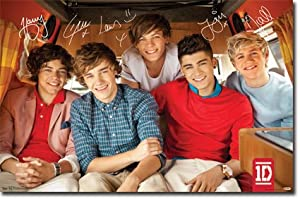 """One Direction 1D - Bus Wall Poster 22"""" X 34"""" by Trends"""