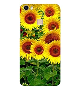 EPICCASE the sunflower Mobile Back Case Cover For Vivo V3 Max (Designer Case)