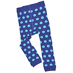 Me In Mind - Baby Girl Footless Tights - Polka Dots - Navy/Lt.Blue - Cute Infant Leggings
