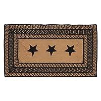 Farmhouse Star Stencil Star Braided Jute Rug, Rectangular - 27x48