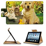 Kitten Puppy Friends Outside Play Time Apple Ipad 2nd 3rd 4th Flip Case Stand Smart Magnetic Cover Open Ports Customized Made to Order Support Ready Premium Deluxe Pu Leather 9 7/8 Inch (250mm) X 7 7/8 Inch (200mm) X 5/8 Inch (17mm) msd Ipad Professional Ipad generation Accessories Retina Display Graphic Background Covers Designed Model Folio Sleeve HD Template Designed Wallpaper Photo Jacket Wifi 16gb 32gb 64gb Luxury Protector