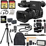 Panasonic HC-X1000 4K-60p/50p Camcorder with High-Powered 20x Optical Zoom and Professional Functions (Black) with Transcend 128 GB U3 SDXC + 64GB Card U3 + Polaroid Pro Video Microphone Set + VANGUARD Alta Ca 234Ap Tripod with Ph-33 Pan Head + PRO LED Light + Deluxe Camera/Video Padded Backpack + Platinum Accessory Bundle