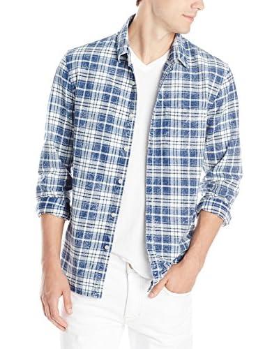JOE'S Jeans Men's Slim Fit Long Sleeve Distressed Plaid Shirt