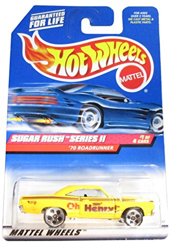 Sugar Rush 2 Series #1 1970 Roadrunner #969 Collectible Collector Car Mattel Hot Wheels - 1