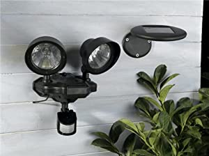 Twin Solar Security Light