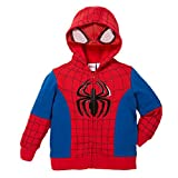 Superhero Little Boys' Zip-Up Fleece Hoodie With Mesh Mask, 6, Spiderman