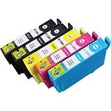 5 Multipack de alta capacidad Epson T1285 Cartuchos Compatibles 2 negro, 1 ciano, 1 magenta, 1 amarillo para Epson Stylus Office BX305F, Stylus Office BX305FW, Stylus Office BX305FW Plus, Stylus S22, Stylus SX125, Stylus SX130, Stylus SX230, Stylus SX235W, Stylus SX420W, Stylus SX425W, Stylus SX430W, Stylus SX435W, Stylus SX438W, Stylus SX440W, Stylus SX445W. Cartucho de tinta . T1281 , T1282 , T1283 , T1284 © 123 Cartucho