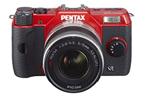Pentax Q Pentax Q10 02 zoom lens kit red Pentax Q10 02 zoom lens kit red 12.4MP Compact System Camera  with 3-Inch LCD- Body Only  (Red)