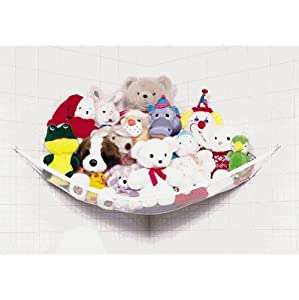 """Deluxe Pet Net - Stuffed Animal & Toy Organizer - 26"""" Deep X 54"""" Wide - White Trim and Net from CHECKYS DEALS"""