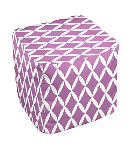 E by design FG-N1-Radiant_Orchid-13 Geometric Pouf - 1