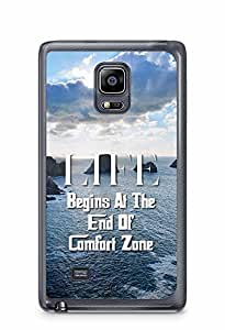YuBingo Life Begins at the end of Comfort Zone Designer Mobile Case Back Cover for Samsung Galaxy Note 4 Edge