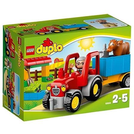 LEGO - 10524 - DUPLO - Jeu de Construction - Le Tracteur de la Ferme