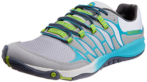 Merrell Women's All Out Fuse Trail Running Shoe,Sleet/Lime,10 M US