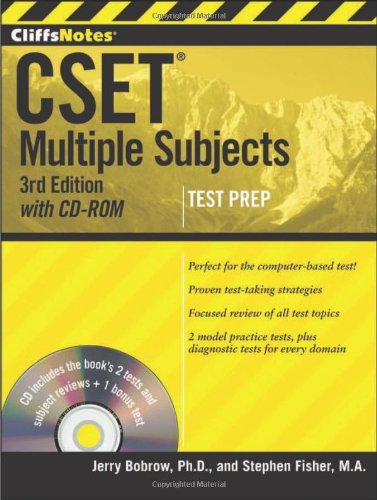 Cliffsnotes Cset: Multiple Subjects With Cd-Rom, 3Rd Edition front-725446