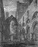 SCOTLAND: Nave of Dunkeld cathedral, antique print 1898