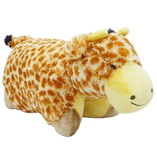 My Pillow Pets Giraffe - Large (Yellow And Tan) - 51jsg6lz24L - My Pillow Pets Signature Jolly Giraffe – 18″ Stuffed Animal Plush Toy