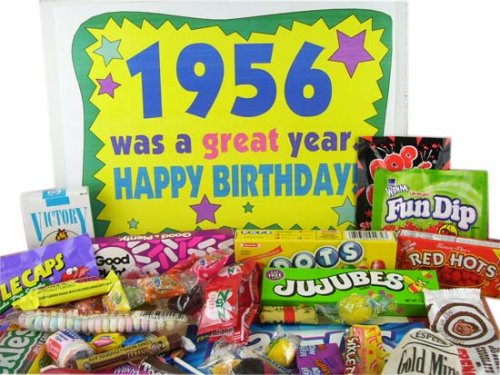 '50s Retro Candy Decade Birthday Gift Box - Nostalgic Candy: 1956
