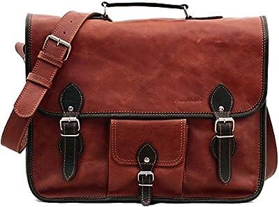 L'ORIENT EXPRESS (L) cuir couleur naturel sacoche bicolore style Vintage format (A4) PAUL MARIUS